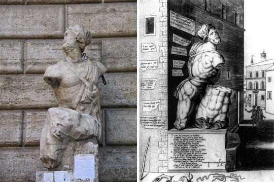 Statua di Pasquino Roma - Nicolas Beatrizet