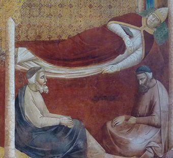 Affreschi Basilica di San Francesco - cubicolare con mantello dalla croce templare