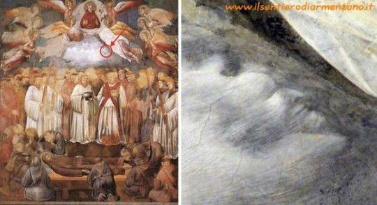 Giotto - San Francesco e il diavolo trovato da Chiara Frugoni