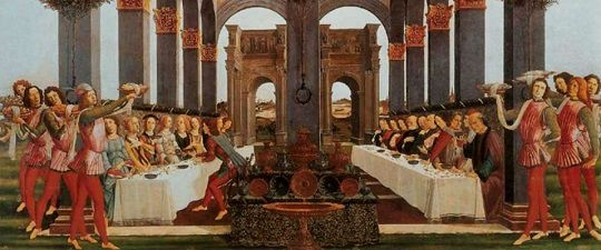 Banchetto rinascimentale - dipinto