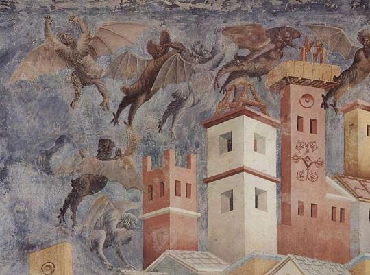 Diavoli - Giotto Basilica Superiore di San Francesco Assisi
