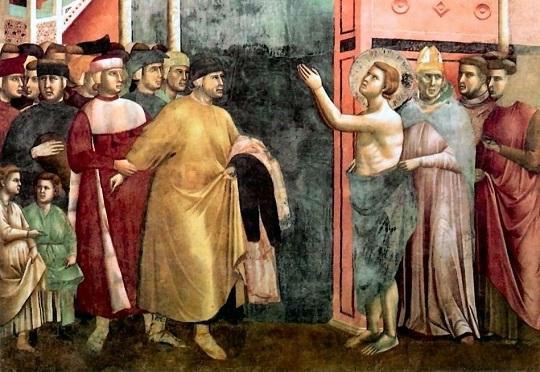 Espoliazione di Francesco - Giotto Basilica Assisi