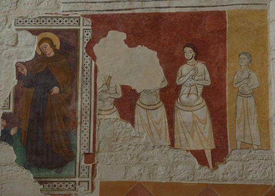 I Flagellanti - affreschi dell'abside di San Bevignate