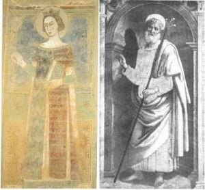 Santo Anello: confronto tra l'iconografia di Santa Mustiola a Chiusi e di San Giuseppe a Perugia