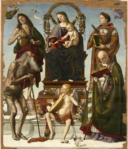 Nella Pala di Sant'Onofrio in basso a destra, unico senza aureola, il vescovo Jacopo Vagnucci è rappresentato a dimensione uguale ai santi