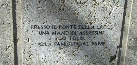 Lapide commemorativa di Cesare Bellini - Valfabbrica