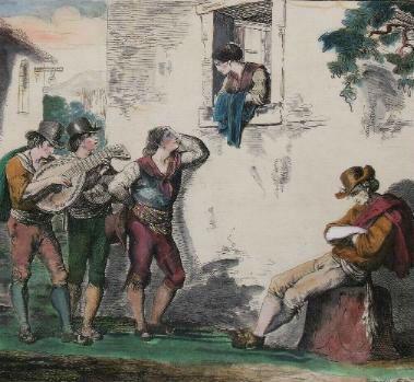 Roberto Valeriani e la serenata a Porzia