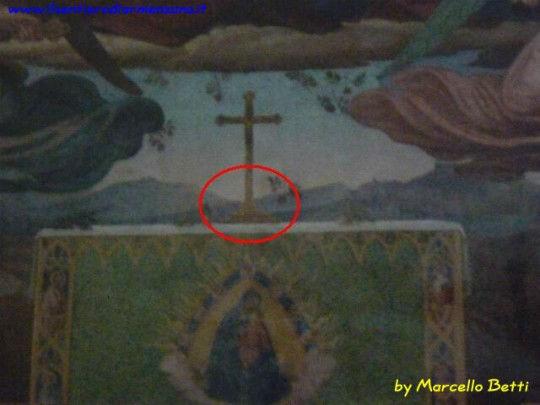 Particolare con la grotta di Cinicchio ovvero la grotta di Francesco