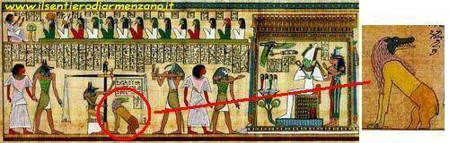 Ammit nel libro dei morti della religione egizia