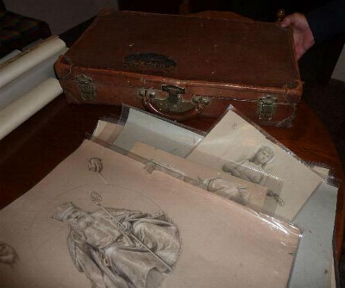 La valigia - I bozzetti di Francesco Bergamini per gli affreschi ottocenteschi della cattedrale di San Rufino ad Assisi.